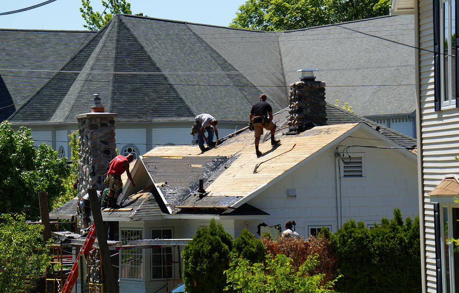 Our Roofers installing the roof